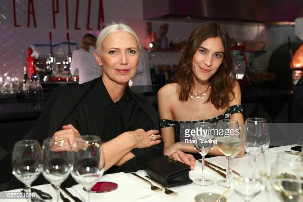 Christiane Arp and Alexa Chung attend the 'Strike A Pose Weekend En Vogue' event at KaDeWe on October 12 2018 in Berlin Germany