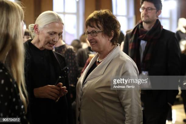 Christiane Arp and Brigitte Zyprie attend the Vogue Salon during 'Der Berliner Salon' AW 18/19 at Kronprinzenpalais on January 16 2018 in Berlin...