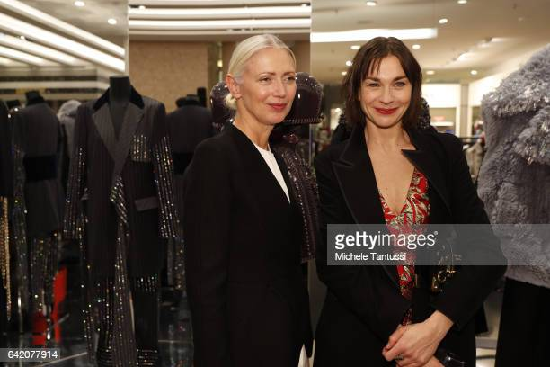 Christiane Arp and Christiane Paul at the Sparkling Looks reception and trunk show at KaDeWe on February 16 2017 in Berlin Germany