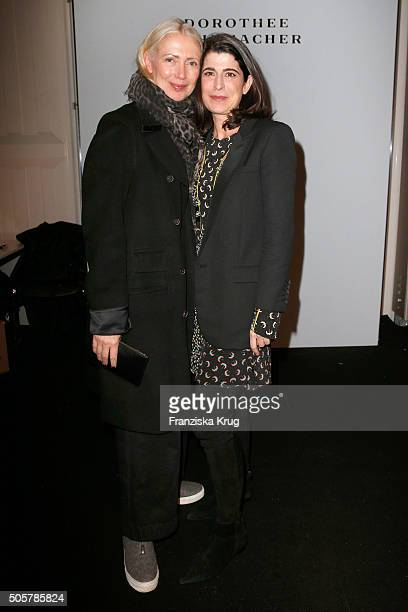 Christiane Arp and Dorothee Schumacher attend the Dorothee Schumacher in cooperation with Mastercard show during the MercedesBenz Fashion Week Berlin...