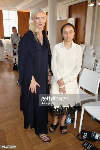 Christiane Arp and Grace Wales Bonner attend the ZEITMAGAZIN X VOGUE Conference during 'Der Berliner Salon' Spring/Summer 2019 at Kronprinzenpalais...