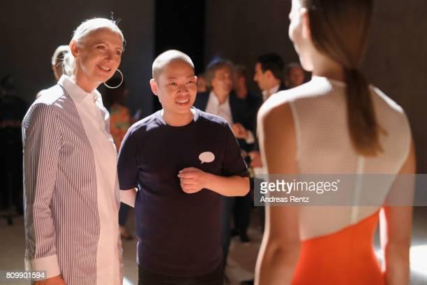 Christiane Arp and Jason Wu seen at the Hugo Boss presentation during 'Der Berliner Mode Salon' Spring/Summer 2018 at St Agnes Church on July 6 2017...