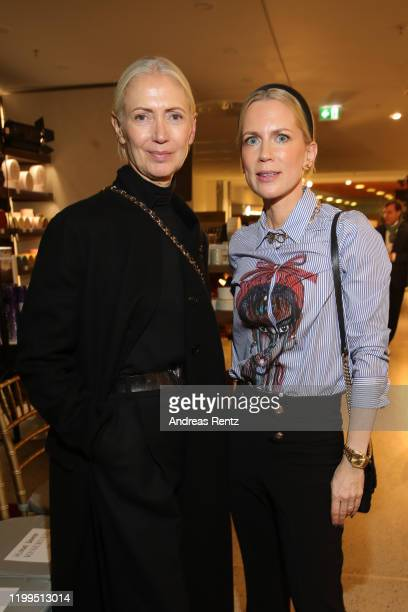 Christiane Arp and Tamara Graefin von Nayhaus attend the Van Laack Meisterwerk by Wolfgang Joop Fall/Winter 2020 presentation during Berlin Fashion...