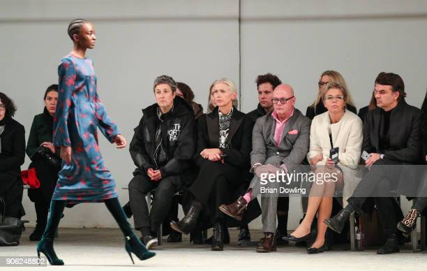 Christiane Arp Andre Maeder Inga Griese and Andre Pollmann attend Odeeh Defile during 'Der Berliner Salon' AW 18/19 on January 17 2018 in Berlin...