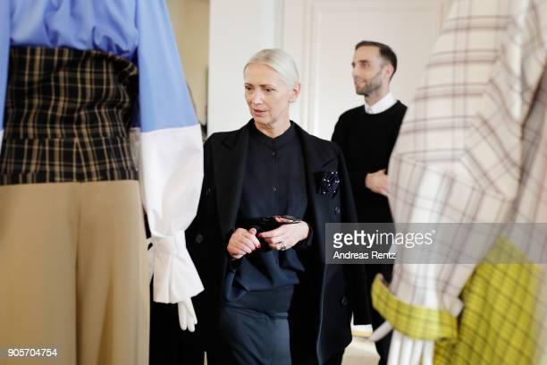 Christiane Arp attends the Vogue Salon during 'Der Berliner Salon' AW 18/19 at Kronprinzenpalais on January 16 2018 in Berlin Germany