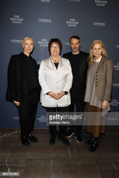 Christiane Arp Brigitte Zypries Marcus Kurz and guest attend the Vogue Salon during 'Der Berliner Salon' AW 18/19 at Kronprinzenpalais on January 16...
