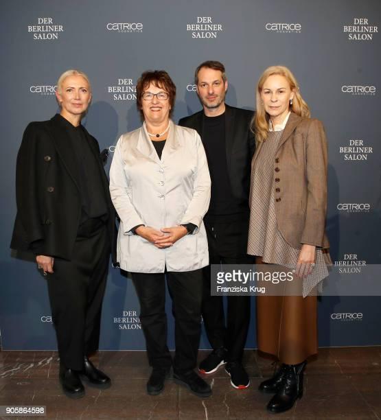 Christiane Arp Brigitte Zypries Marcus Kurz and the Group Presentation during 'Der Berliner Salon' AW 18/19 at Kronprinzenpalais on January 16 2018...
