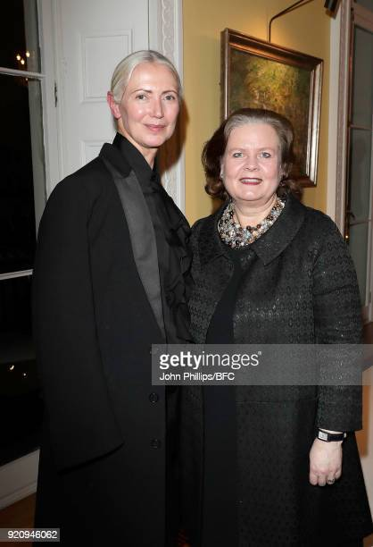 Christiane Arp editor in chief of Vogue Germany and Deputy Head of the German Embassy Tania Freiin von UslarGleichen at the German Fashion Autumn...
