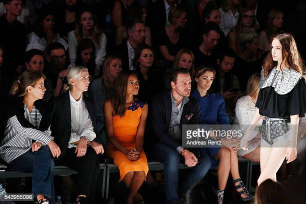 Christiane Arp Naomi Harris and John Cloppenburg attend the runway at the fashion talent award 'Designer for Tomorrow' by Peek Cloppenburg and...