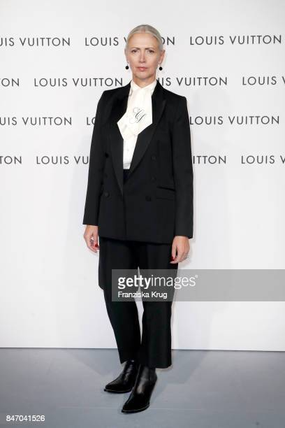 Christiane Arp wearing Louis Vuitton attends the 'Louis Vuitton Time Capsule' Exhibition Opening at Franzoesisches Palais on September 14 2017 in...