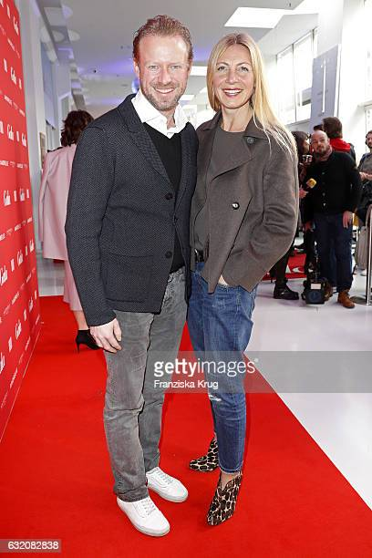 Christiane Bruszis and Valentin von Arnim attend the 'Gala' fashion brunch during the MercedesBenz Fashion Week Berlin A/W 2017 at Ellington Hotel on...