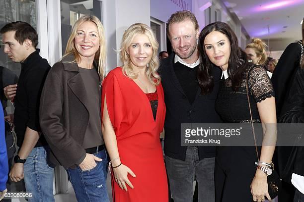 Christiane Bruszis Astrid Bleeker Valentin von Arnim and Doris Brueckner attend the 'Gala' fashion brunch during the MercedesBenz Fashion Week Berlin...