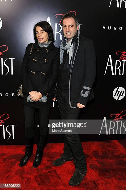 Christiane Celle and photographer Antoine Verglas attend the premiere of The Artist at the Paris Theater on November 17 2011 in New York City