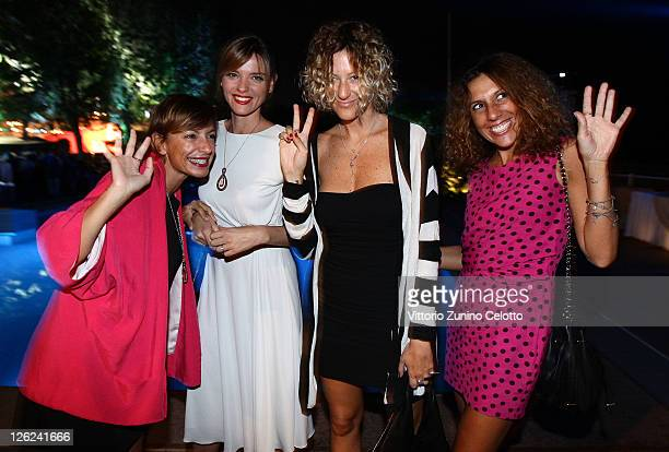 Christiane Filangieri and guests attend the Fandango Party at Lancia Cafe on September 8 2011 in Venice Italy