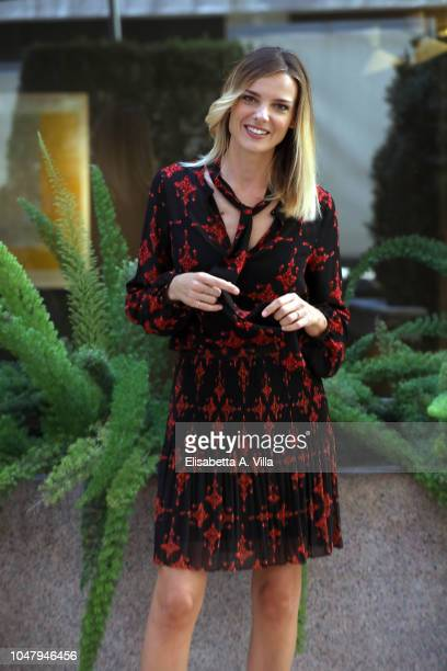 Christiane Filangieri attends Nessuno Come Noi photocall on October 9 2018 in Rome Italy