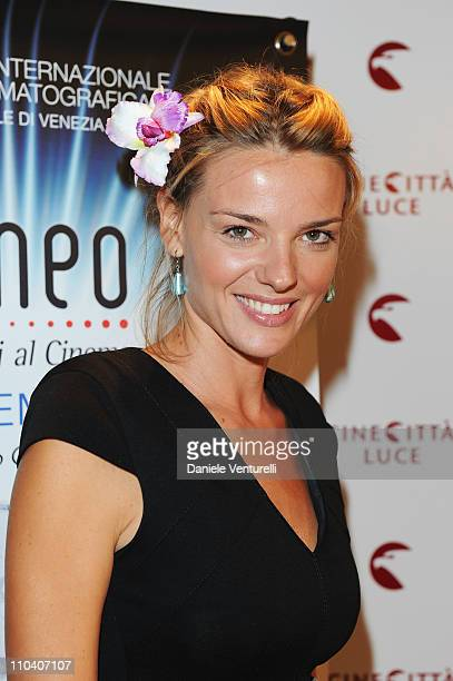 Christiane Filangieri attends the Kineo Diamanti Al Cinema press conference at the Hotel Excelsior Terrace during the 67th Venice International Film...