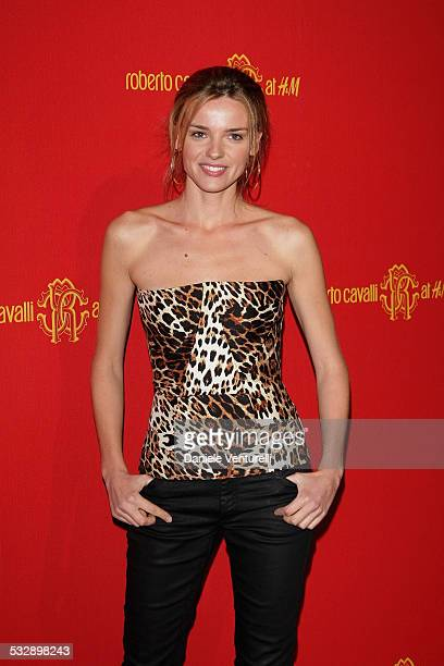 Christiane Filangieri attends the Roberto Cavalli at HM collection launch party on October 25 2007 in Rome Italy