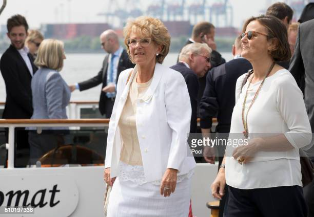 Christiane FrisingJuncker wife of JeanClaude Juncker President of the European Commission and Emanuela Mauro Gentiloni wife of Paolo Gentiloni Prime...