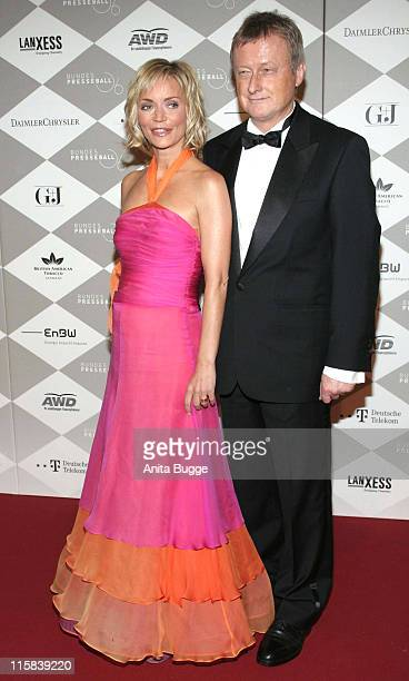 Christiane Gerboth and Hans Ulrich Joerges during Bundespresseball Berlin November 24 2006 at Hotel InterContinental in Berlin Berlin Germany
