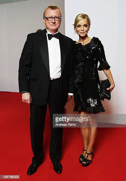 Christiane Gerboth and HansUlrich Joerges arrive for the Bambi 2010 Award at Filmpark Babelsberg on November 11 2010 in Potsdam Germany