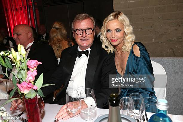 Christiane Gerboth and her husband HansUlrich Joerges during the aftershow party of the 23rd Opera Gala at Deutsche Oper Berlin on November 5 2016 in...