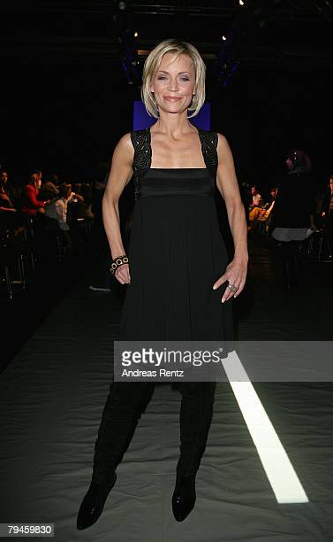 Christiane Gerboth attends the Susanne Wiebe fashion show during the MercedesBenz Fashionweek Berlin autumn/winter 2008 on January 31 2008 in Berlin...
