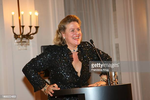 Christiane Gräfin Von Ranzau Bei Der Jubiläumsgala Zugunsten Des Chaim Sheba Medical Center In Tel Aviv Im Schloss Bellevue In Berlin Am 181006