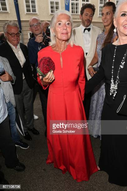 Christiane Hoerbiger attends the 'Aida' premiere during the Salzburg Opera Festival 2017 on August 6 2017 in Salzburg Austria