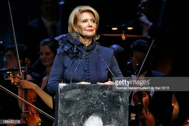 Christiane Hoerbiger speaks at the 'Red Ribbon Celebration Concert United in Difference' at Burgtheater on May 24 2013 in Vienna Austria