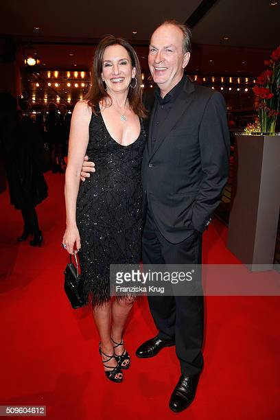 Christiane Knaup and Herbert Knaup attend the opening party of the 66th Berlinale International Film Festival Berlin at Berlinale Palace on February...