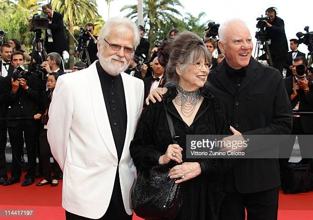 Christiane Kubrick and Malcolm McDowell attends the The Skin I Live In premiere at the Palais des Festivals during the 64th Cannes Film Festival on...