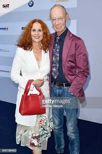 Christiane Leuchtmann and Hans Peter Korff attend the summer party of Produzentenallianz on July 5, 2016 in Berlin, Germany.
