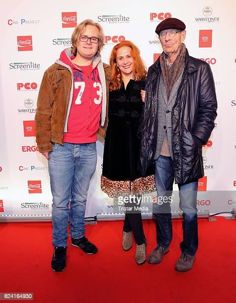 Christiane Leuchtmann HansPeter Korff and son Johannes attend Kinocenter Winsen Reopenson November 17 2016 in Hamburg Germany