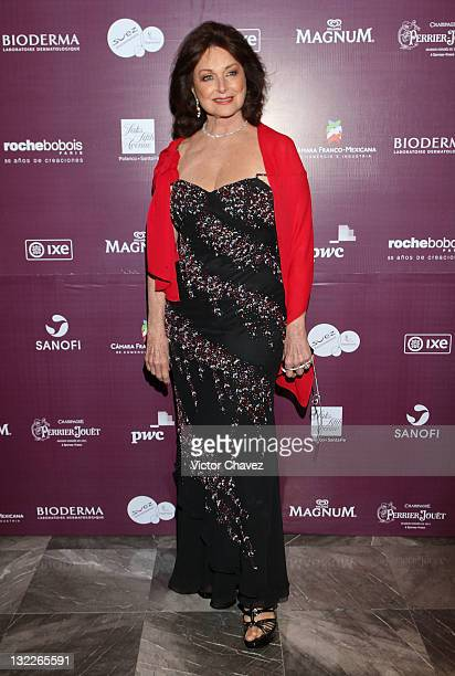 Christiane Magnani attends the Miss France 2012 gala night at the Hotel Camino Real on November 10 2011 in Mexico City Mexico