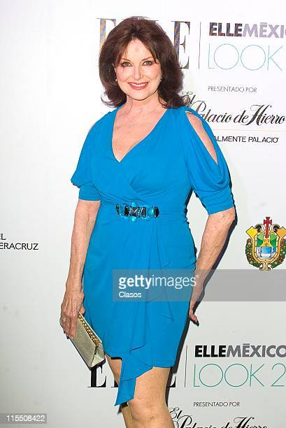 Christiane Magnani poses for photos at the red carpet of Elle Mexico Disena on June 4 2011 in Veracruz Mexico