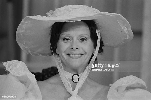 Christiane Minazzoli dans la pièce de théâtre d'Eugène Labiche 'Le Don Juan de la Creuse' à Paris France en septembre 1983
