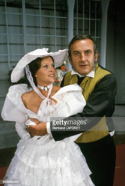 Christiane Minazzoli et Daniel Ceccaldi dans la pièce 'Le Don Juan de la Creuse' le 12 septembre 1983 à Paris France
