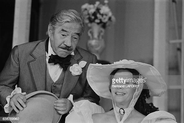 Christiane Minazzoli et JeanPierre Darras dans la pièce de théâtre d'Eugène Labiche 'Le Don Juan de la Creuse' à Paris France en septembre 1983