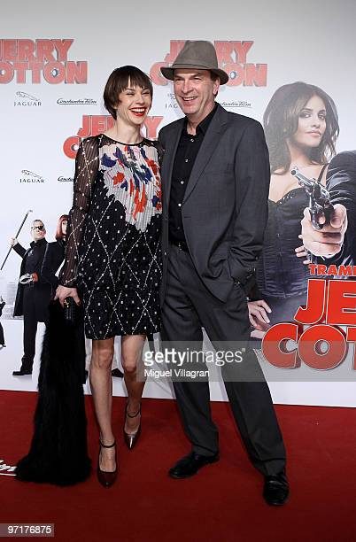 Christiane Paul and actor Herbert Knaup attend the German premiere of 'Jerry Cotton' on February 28 2010 in Munich Germany