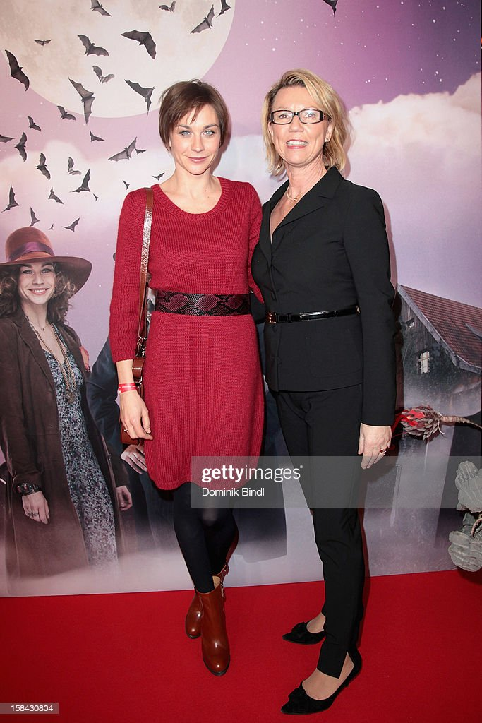 Christiane Paul and Daniela Lindner attend the 'Die Vampirschwestern' Germany Premiere on December 16, 2012 in Munich, Germany.