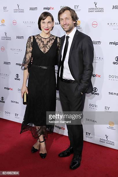 Christiane Paul and Florian Stetter attend the 44th International Emmy Awards at New York Hilton on November 21 2016 in New York City