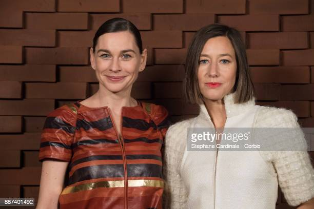 Christiane Paul and Johanna Wokalek attend the Chanel Collection Metiers d'Art Paris Hamburg 2017/18 at The Elbphilharmonie on December 6 2017 in...