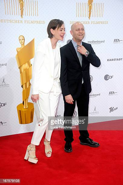 Christiane Paul and Juergen Vogel attend the Lola German Film Award 2013 at Friedrichstadtpalast on April 26 2013 in Berlin Germany