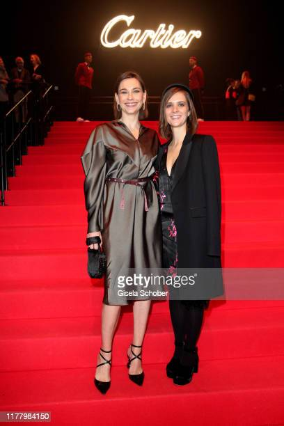 Christiane Paul and Liv Lisa Fries during the Clash de Cartier The Opera event at Eisbachstudios on October 24 2019 in Munich Germany