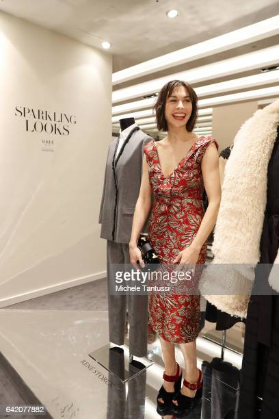Christiane Paul at the Sparkling Looks reception and trunk show at KaDeWe on February 16 2017 in Berlin Germany