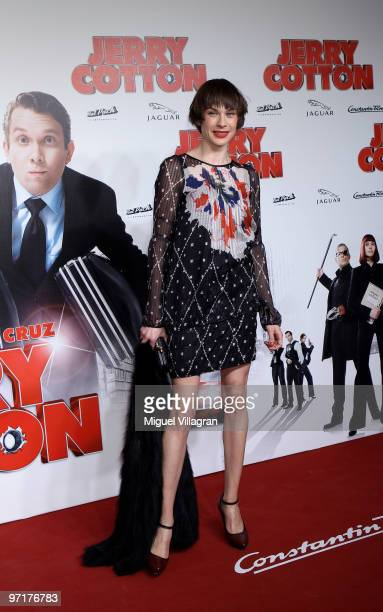 Christiane Paul attend the German premiere of 'Jerry Cotton' on February 28 2010 in Munich Germany