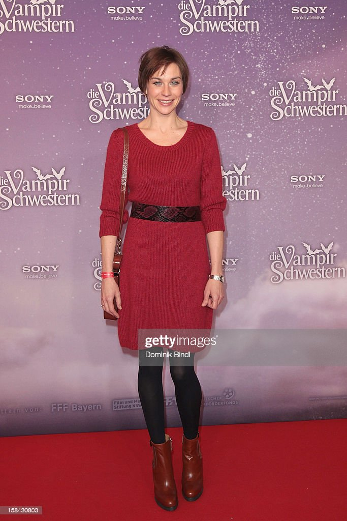 Christiane Paul attends the 'Die Vampirschwestern' Germany Premiere on December 16, 2012 in Munich, Germany.