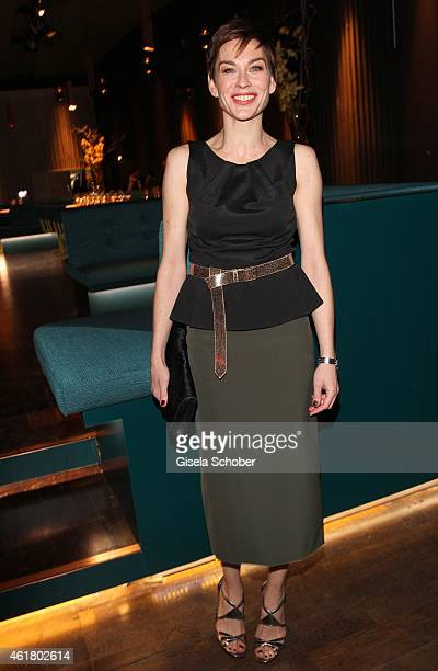 Christiane Paul attends the LaLa Berlin Dinner with Cinderella during the MercedesBenz Fashion Week Berlin Autumn/Winter 2015/16 at Crackers on...