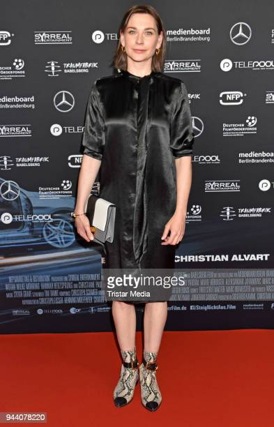Christiane Paul attends the 'Steig Nicht Aus' Premiere on April 9 2018 in Berlin Germany