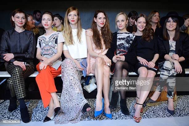 Christiane Paul Katharina Schuettler Pheline Roggan Julia Malik Friederike Kempter Lavinia Wilson and Natalia Avelon attend the Lala Berlin show...